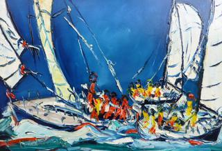 'Harbour Racing' by Vincent Duncan