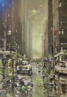 'Down Featherston Street' by Dianne Taylor (SOLD)
