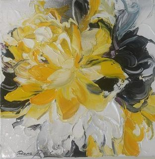 'Flower Abstract 3' by Diana Peel (SOLD)