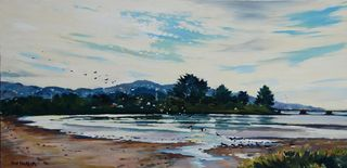 'Oyster Catchers Hutt Estuary' by Phil Dickson