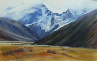 'Portrait of Mt Sefton' by Jan Thomson (SOLD)