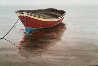'Dinghy at Low Tide' by Graham Moeller (SOLD)