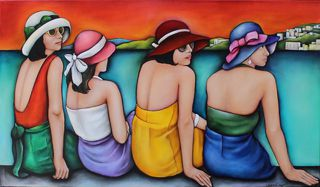 'Summer on the Wharf' by Lauryne Hart (SOLD)
