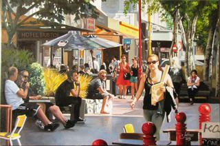 'Sunday Stroll Cuba Mall' by Zad Jabbour (SOLD)