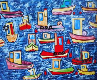 'Who Loves Tug Boats' by Vincent Duncan
