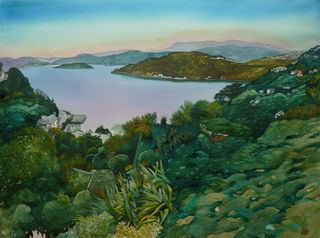 'Roseneath to Balena Bay' by Joy de Geus (SOLD)