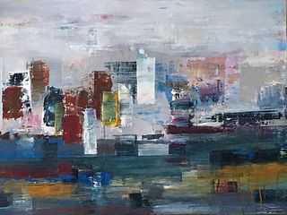 'Hafen City' by Claudia Grutke (SOLD)