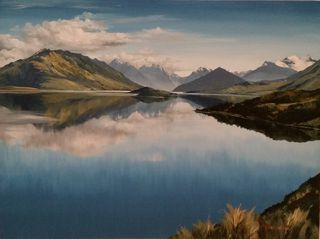'Lake Wakatipu Pig n Pigeon Islands' by Graham Moeller