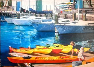 'Kayak' by Zad Jabbour (SOLD)