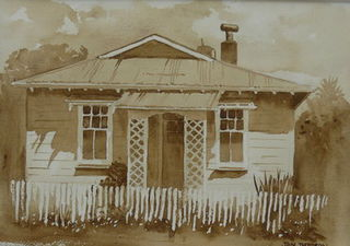 NZ Railway House 2 by Jan Thomson (SOLD)
