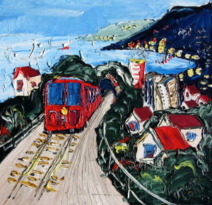 'Cable Car No 2' by Vincent Duncan (SOLD)