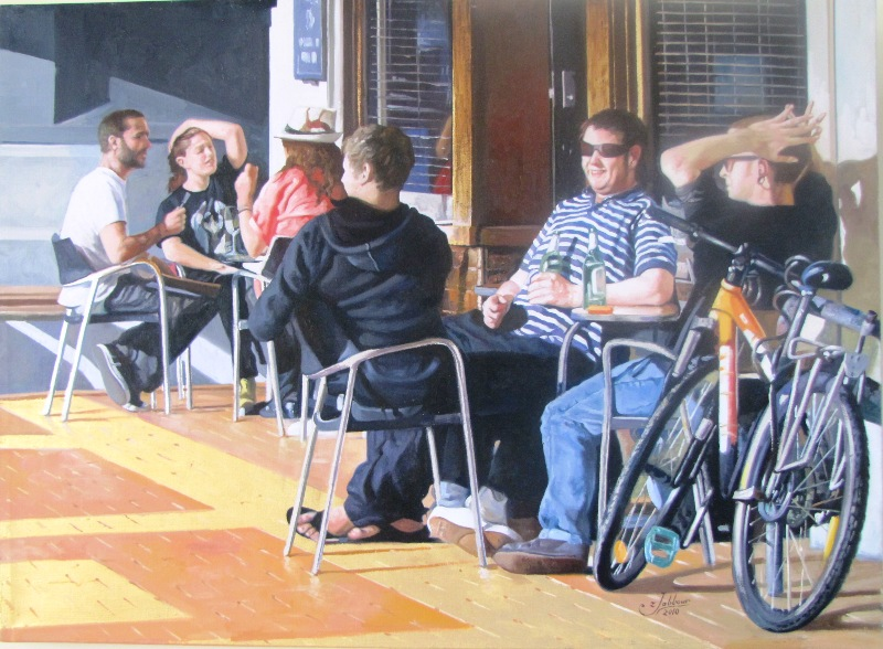 'The Capitol Cafe' by Zad Jabbour (SOLD)