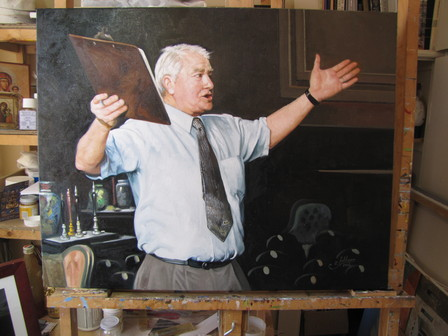 'The Auctioneer' Commission by Zad Jabbour (SOLD)