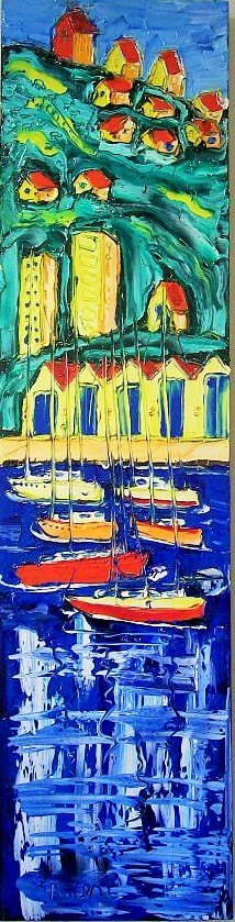 'The Blue Boatsheds 2' by Vincent Duncan (SOLD)