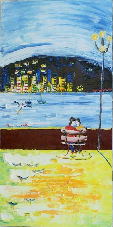 'Lovers on the Bay 4' by Vincent Duncan (SOLD)