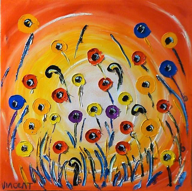 'Sunset Poppies' by Vincent Duncan (SOLD)