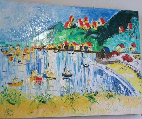 'Evans Bay' by Vincent Duncan (SOLD)