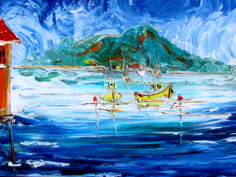 'Island Bay' by Vincent Duncan (SOLD)