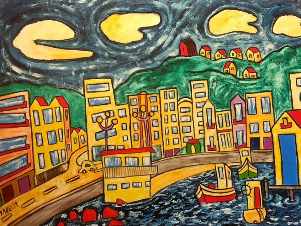 'Looking Back Oriental Bay' by Vincent Duncan (SOLD)