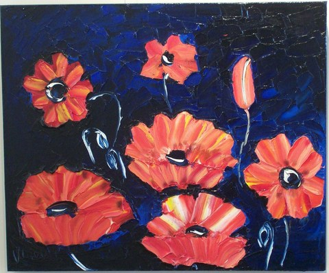 'Poppies 2' by Vincent Duncan (SOLD)