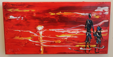 'Red Susnet' by Vincent Duncan (SOLD)