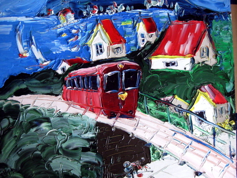 'Cable Car 1' by Vincent Duncan (SOLD)