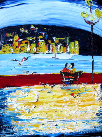 'Lovers on the Bay' by Vincent Duncan (SOLD)