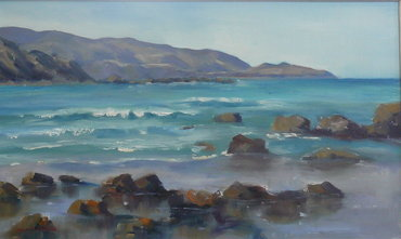 'A Toe Licking Tide' (SOLD) by Jan Thomson