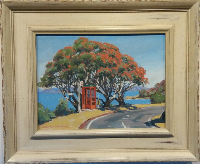 'Phone Box Karaka Bay' by Bill MacCormick