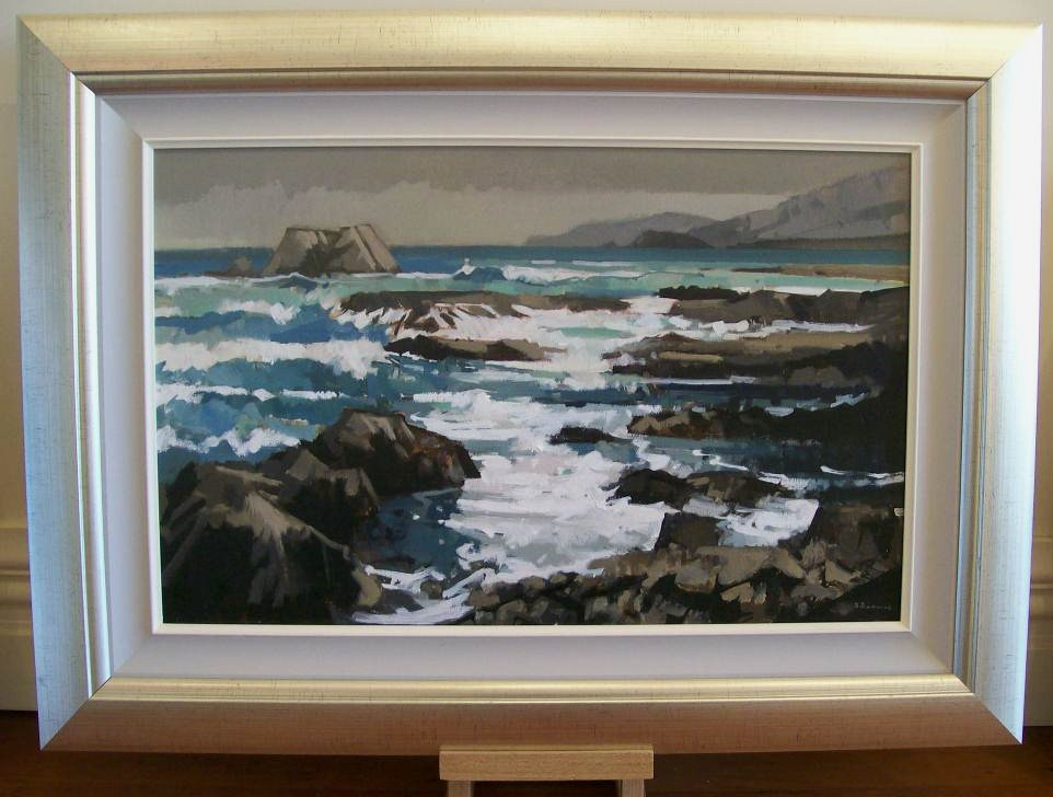 'Goose Bay Kaikoura Coast' by Brian Badcock (SOLD)