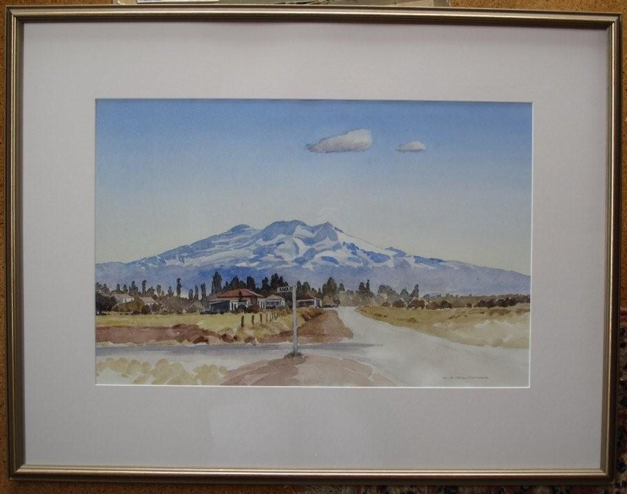 'Mt Ruapehu' by Bill MacCormick (SOLD)