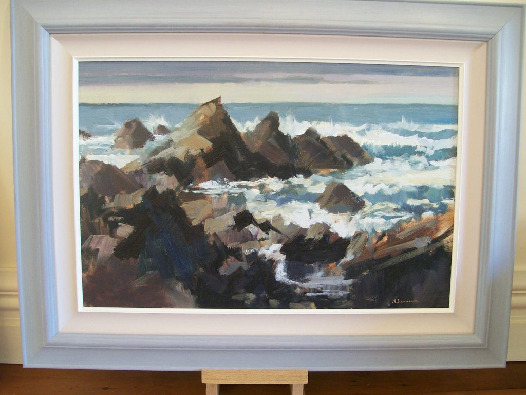 'Paparoa Point Kaikoura Coast' by Brian Badcock