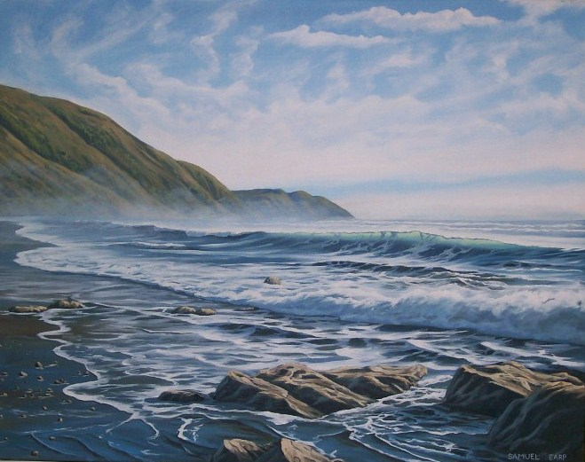 'Paekakariki' by Sam Earp (SOLD)