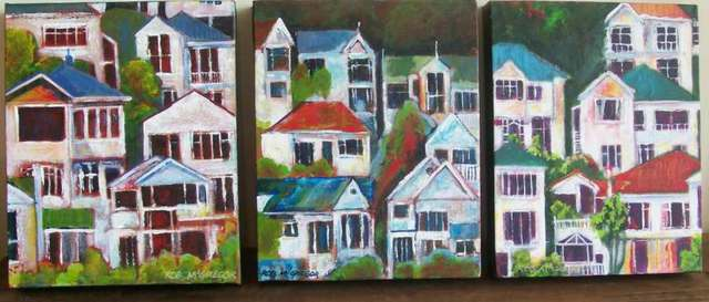 'Wellington Houses No 8' by Rob McGregor (SOLD)