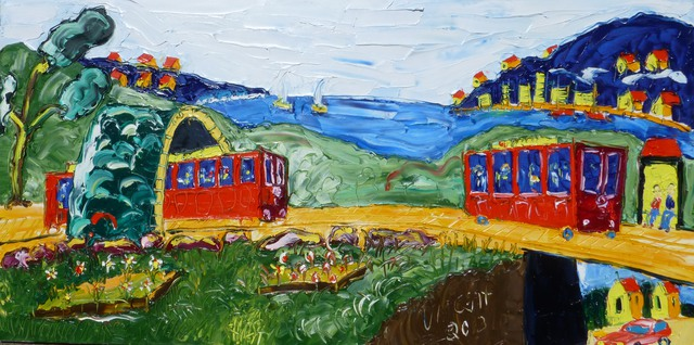 'Two Cable Cars' by Vincent Duncan (SOLD)