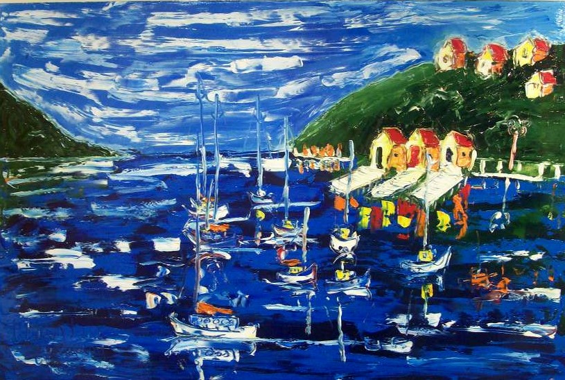 'Peaceful Day Evans Bay' by Vincent Duncan (SOLD)