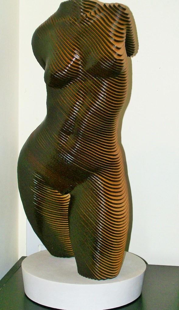 Olivier Duhamel - Rosie..Contemporary wood sculpture