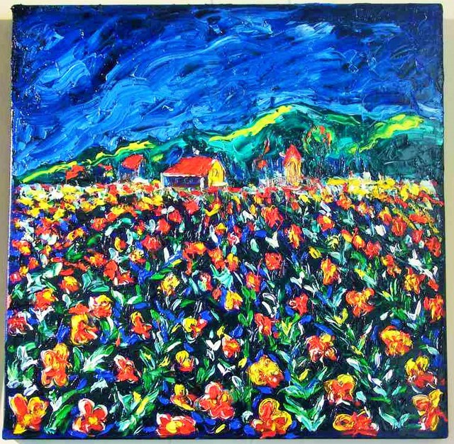 'Fields of Flowers' by Vincent Duncan (SOLD)