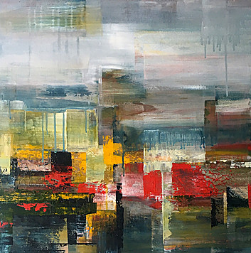 'Deconstructed Horizon with Yellow' by Claudia Grutke