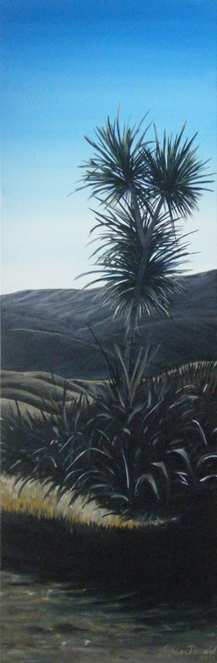 'Cabbage Tree at Dusk' by Tracy MacDonald (SOLD)
