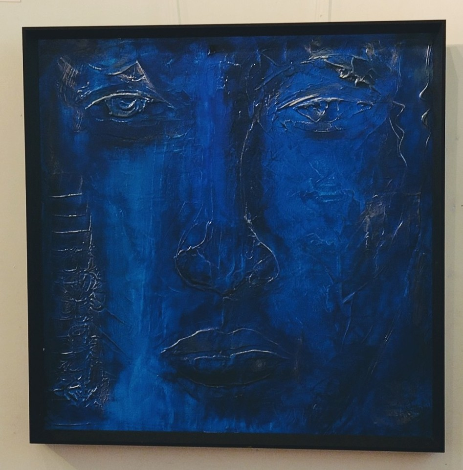 'Faces Series Blue' by Peter Augustin