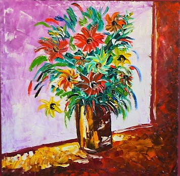 'Flowers in the Window' by Vincent Duncan (SOLD)
