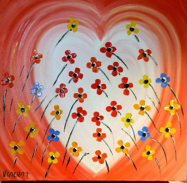 'Heart of Flowers' by Vincent Duncan (SOLD)
