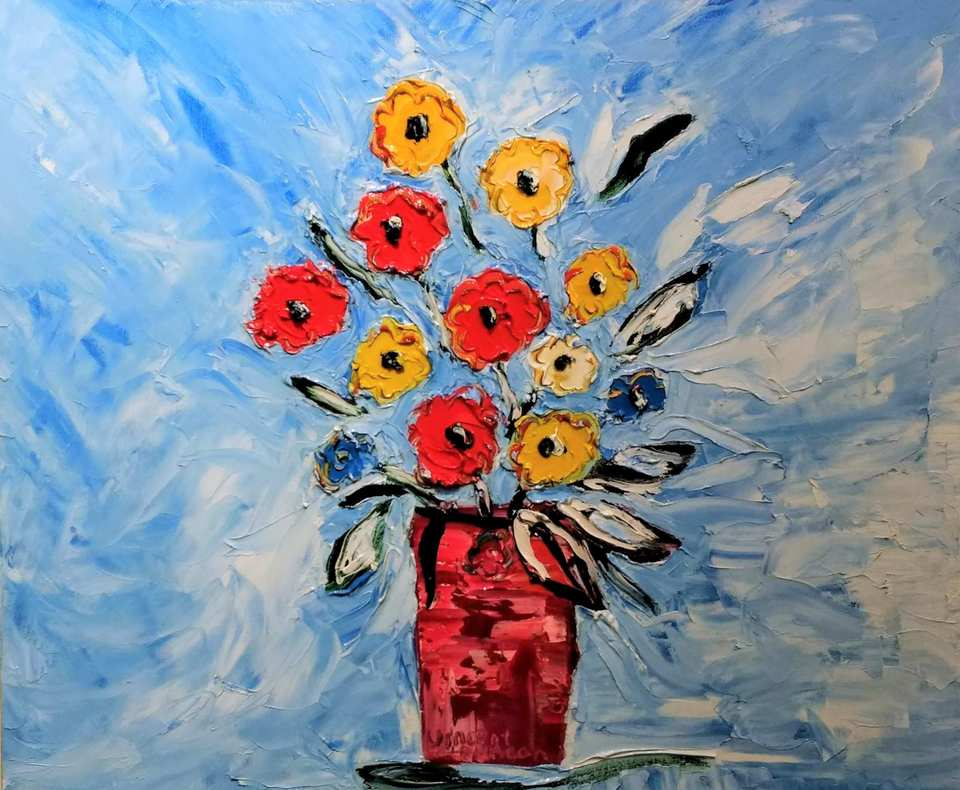 'Table Flowers 3' by Vincent Duncan (SOLD)