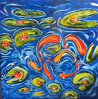 'In my Pond' by Vincent Duncan (SOLD)