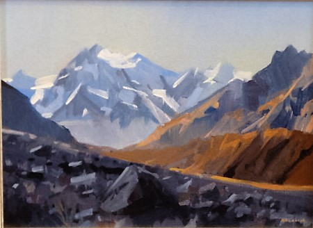 'Mt Chudleigh from Tasman Glacier' by Brian Badcock