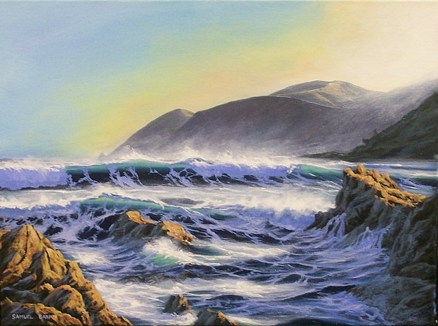 'Owhiro Bay' by Samuel Earp (SOLD)