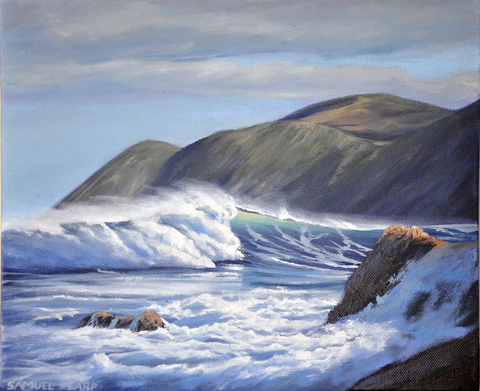 'Small Owhiro Bay' by Sam Earp (SOLD)
