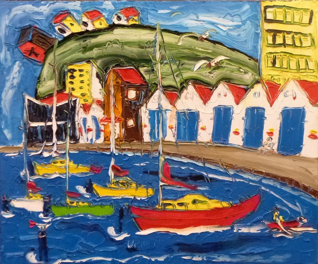 'Boat Harbour Marina' by Vincent Duncan (SOLD)