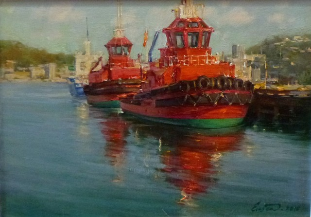 'Wellington Tugs' by Eugenea (SOLD)